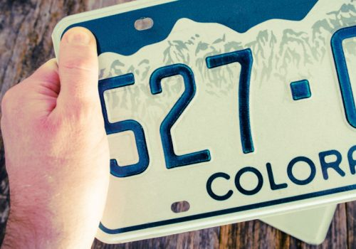 Find your vehicle registration number on the license plate.